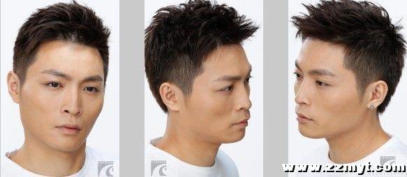 qq头像男生头发中分侧脸